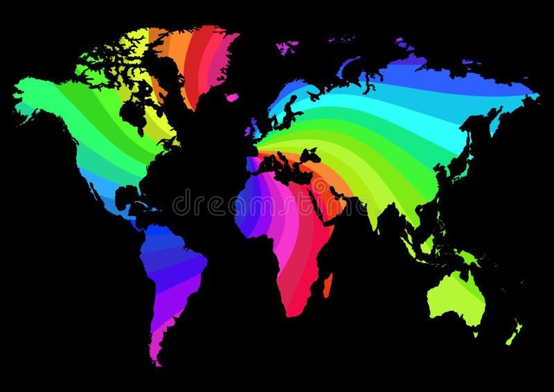 Mapa do arco-íris ilustração do vetor