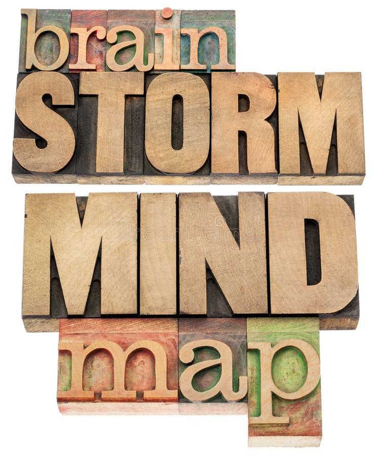 Mapa do Brainstorm e de mente fotos de stock