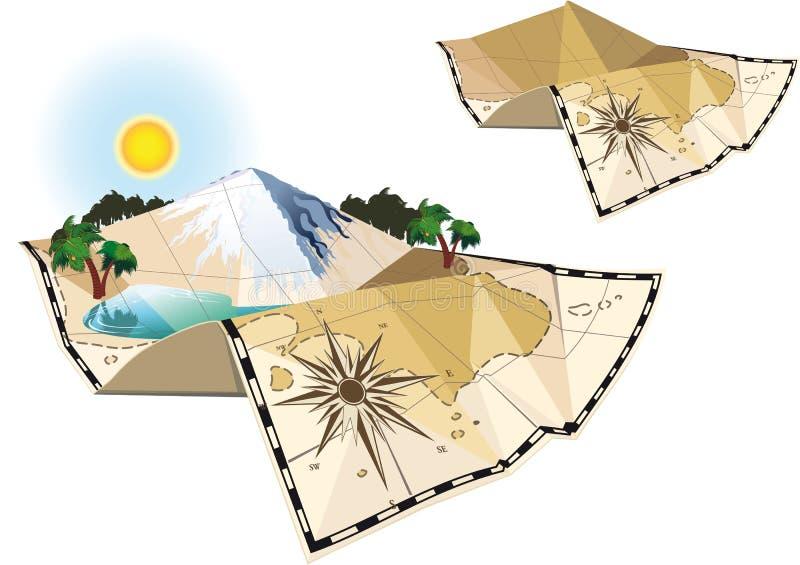 Mapa do conceito dois ilustração royalty free