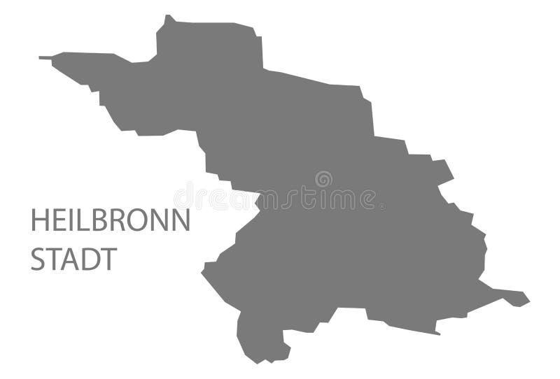 Mapa do condado de Heilbronn Stadt de Baden Wuerttemberg Germany ilustração do vetor