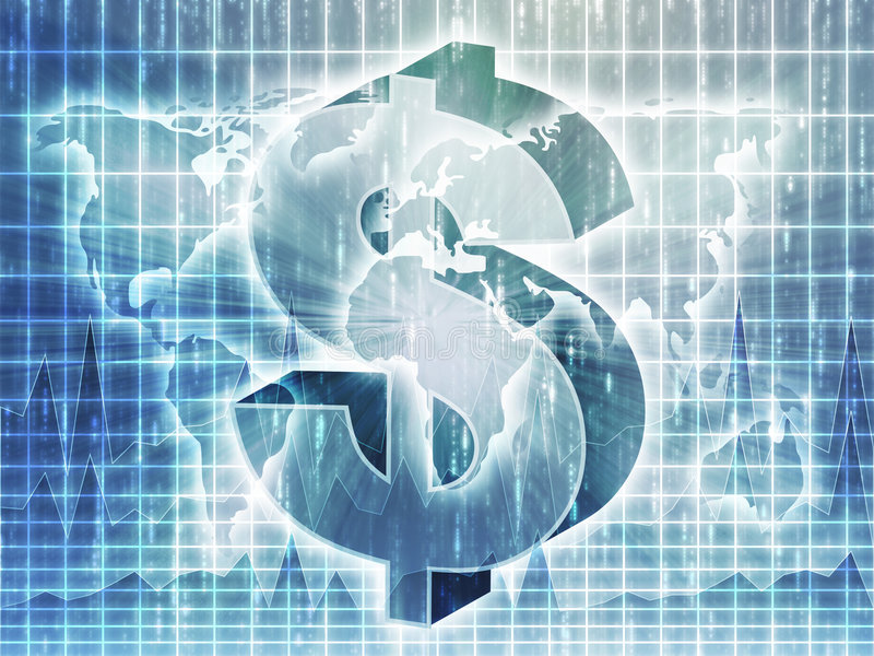 Mapa do dólar americano ilustração stock