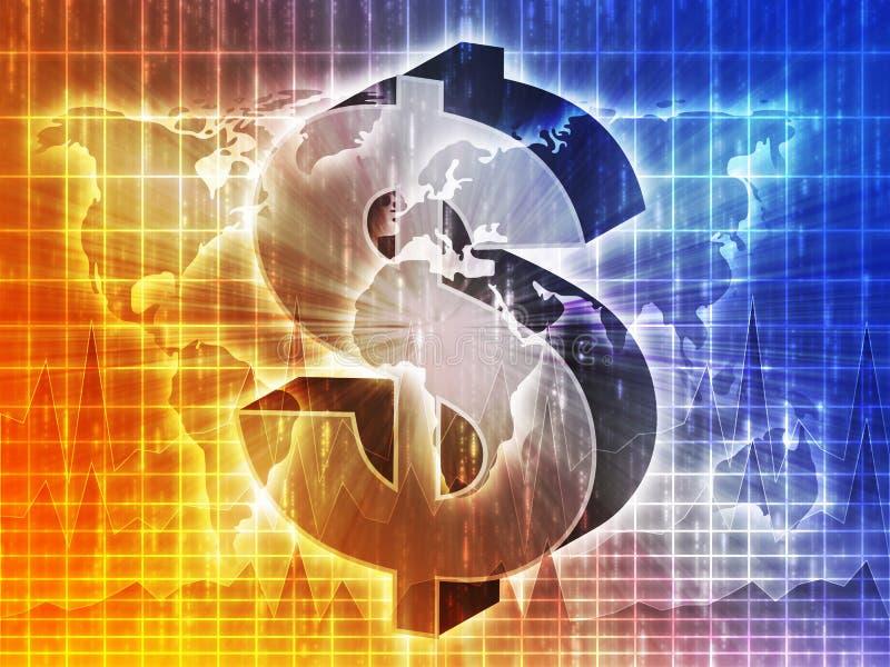 Mapa do dólar americano ilustração do vetor