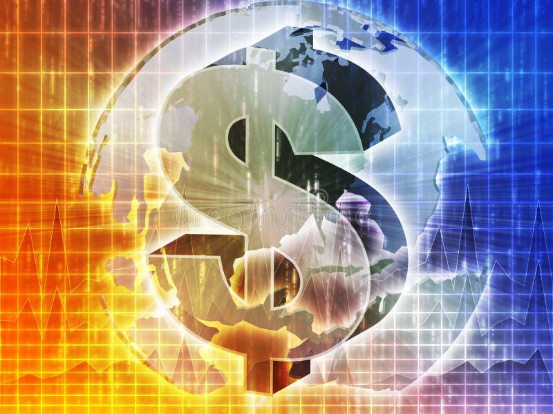 Mapa do dólar americano ilustração royalty free