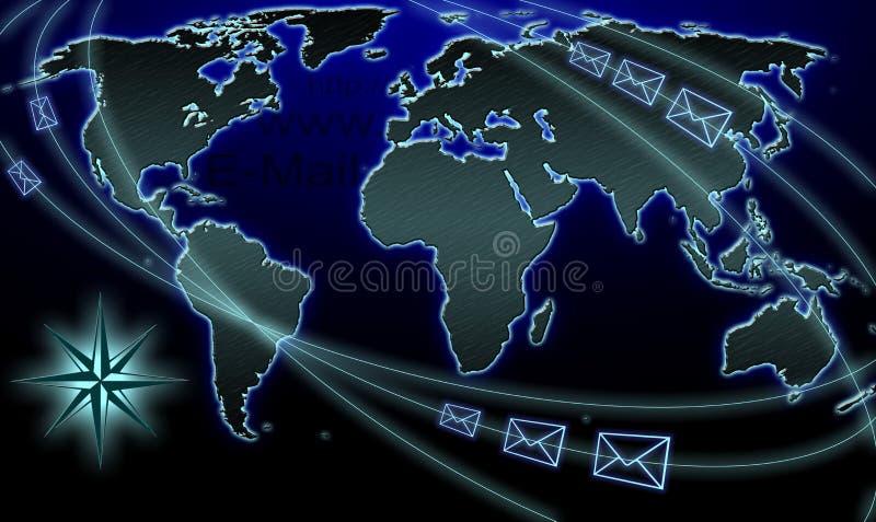 Mapa do email ilustração do vetor