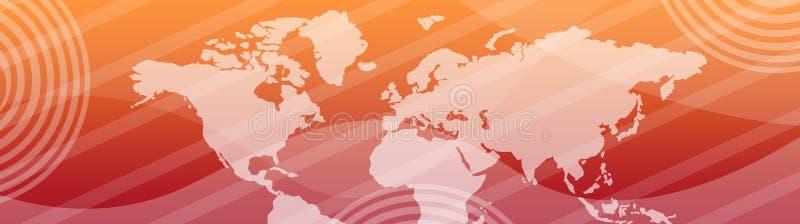 Mapa do encabeçamento do Web/mundo da bandeira ilustração royalty free