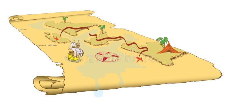 Mapa do EPS ilustração stock