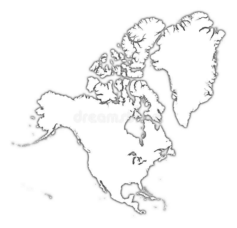 Mapa do esboço de America do Norte ilustração stock