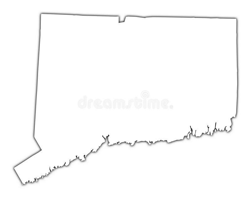 Mapa do esboço de Connecticut ilustração royalty free