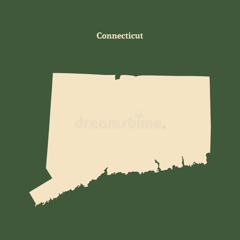 Mapa do esboço de Connecticut Ilustração ilustração royalty free