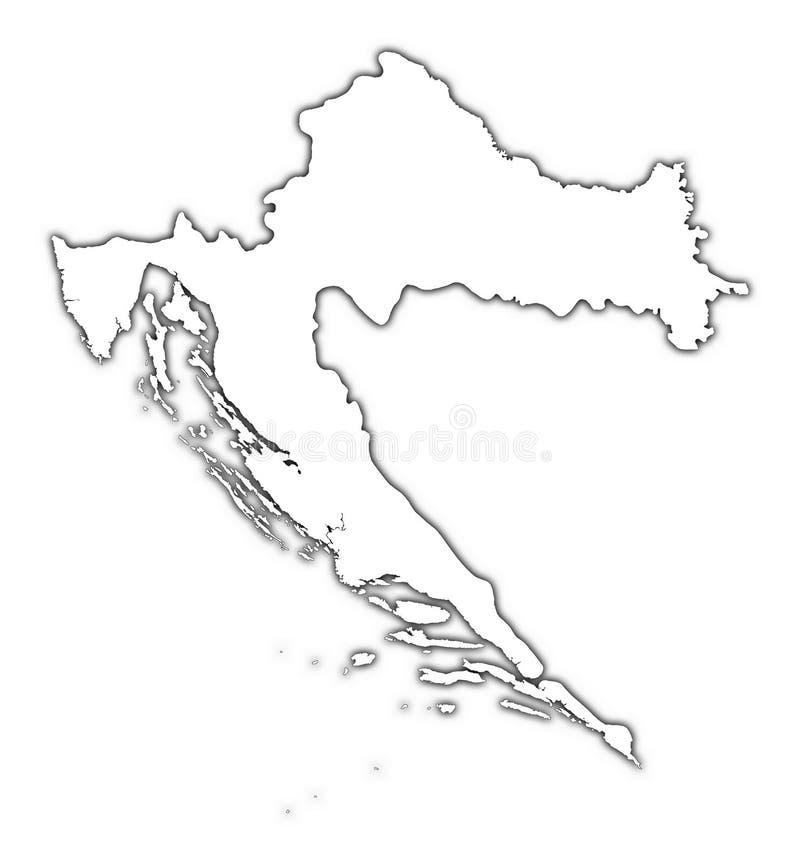 Mapa do esboço de Croatia ilustração royalty free