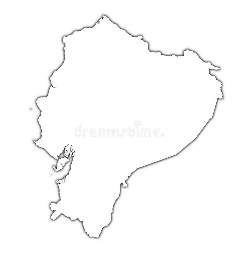 Mapa do esboço de Equador ilustração do vetor