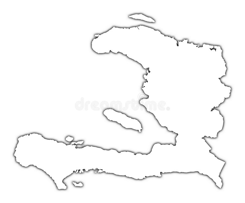 Mapa do esboço de Haiti ilustração stock