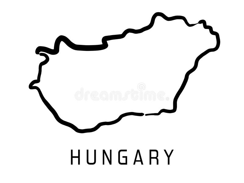 Mapa do esboço de Hungria ilustração royalty free