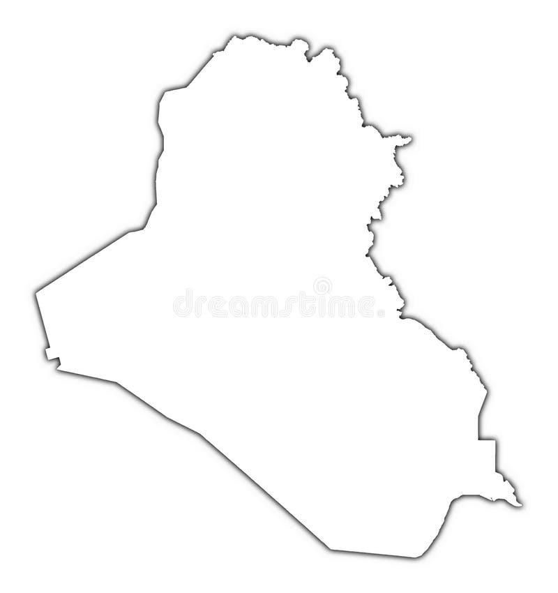 Mapa do esboço de Iraque ilustração royalty free