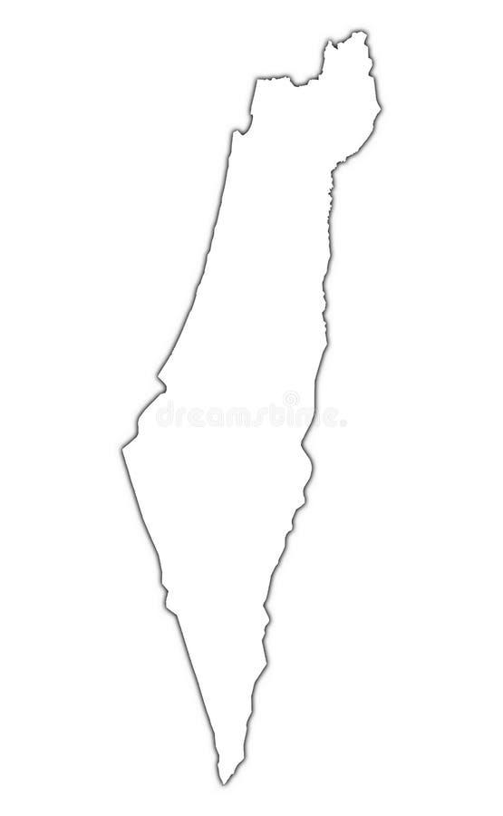 Mapa do esboço de Israel ilustração stock