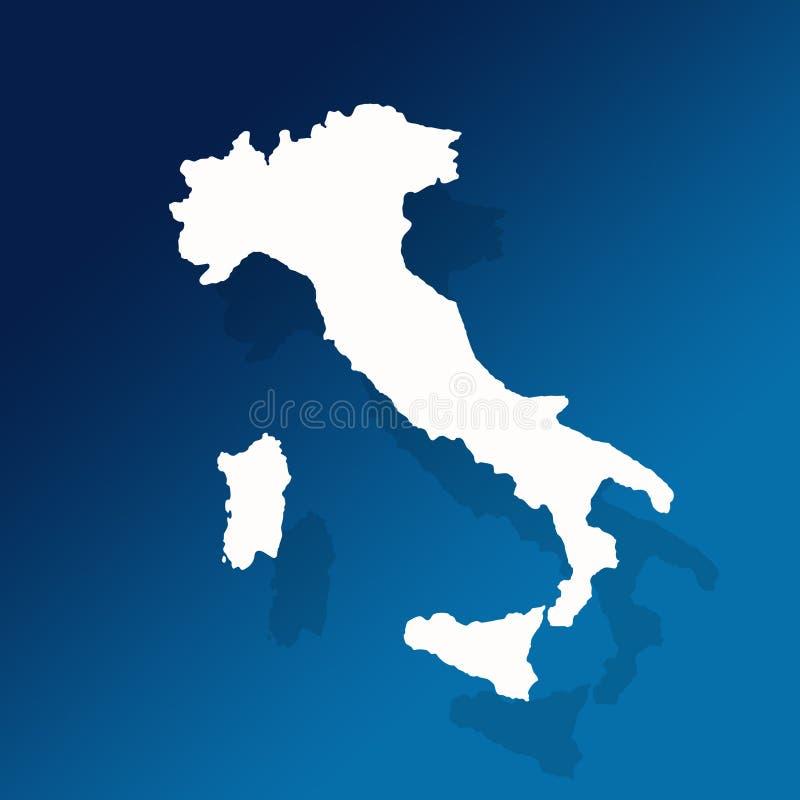 Mapa do esboço de Italy e de Sicília ilustração royalty free