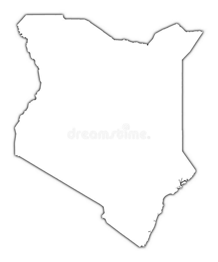 Mapa do esboço de Kenya ilustração royalty free