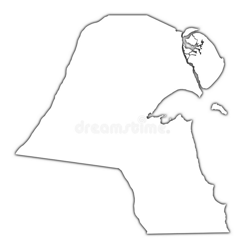 Mapa do esboço de Kuwait ilustração royalty free
