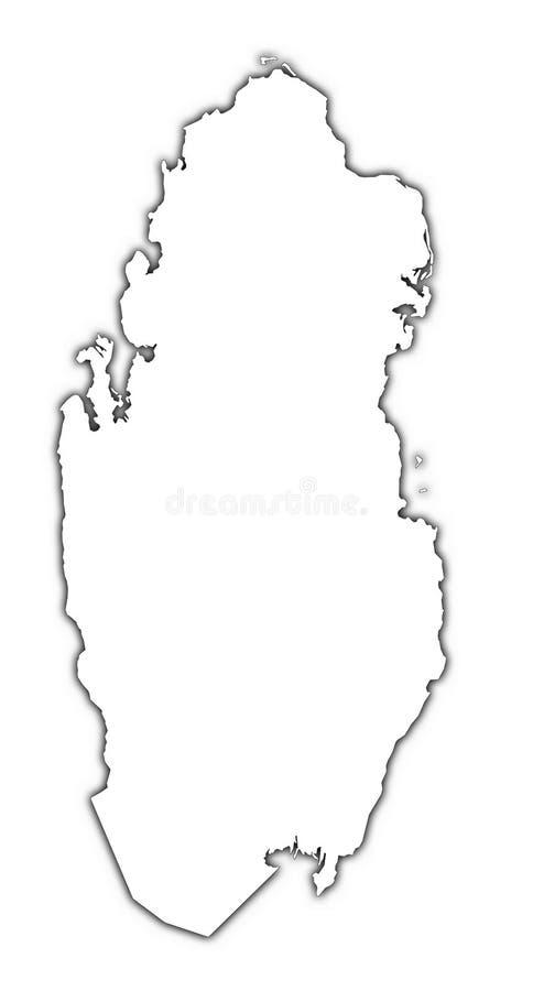 Mapa do esboço de Qatar ilustração do vetor