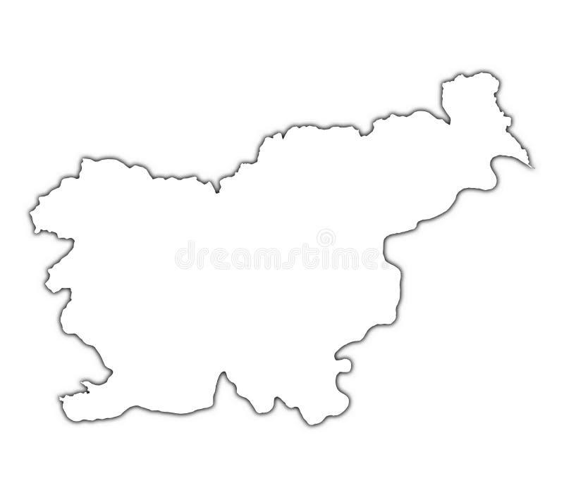 Mapa do esboço de Slovenia ilustração do vetor
