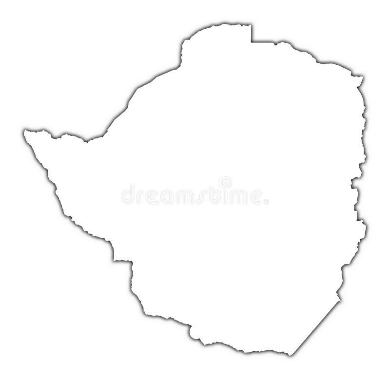 Mapa do esboço de Zimbabwe ilustração do vetor