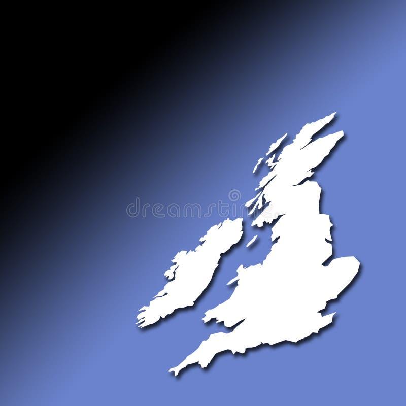 Mapa do esboço do Reino Unido e do Ireland ilustração royalty free