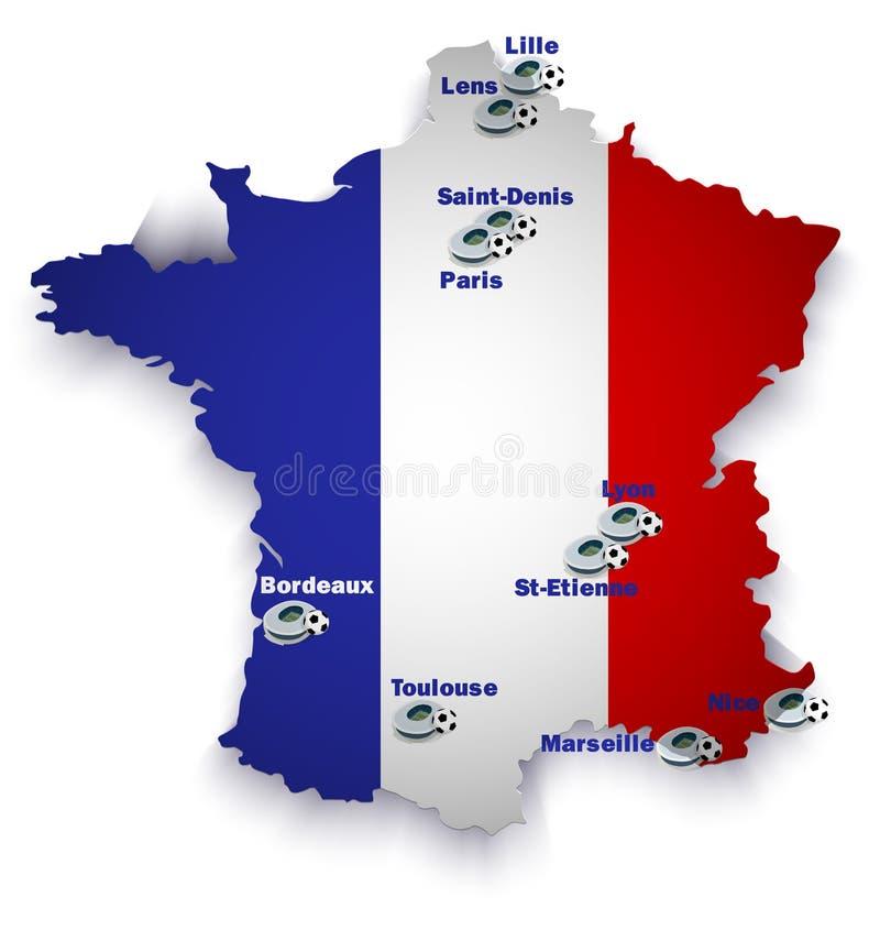 Mapa do estádio de futebol de França ilustração do vetor
