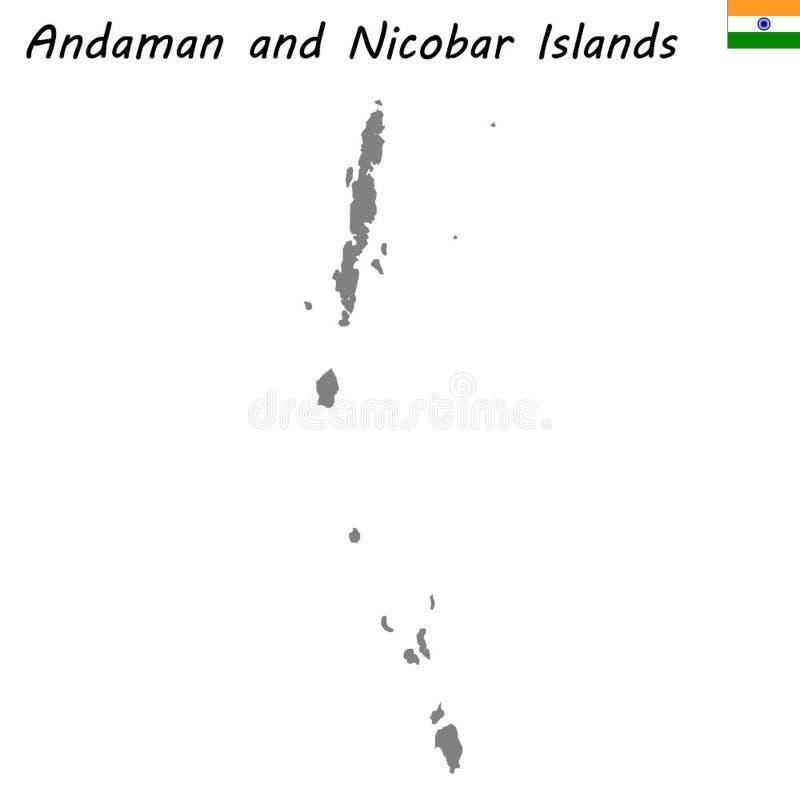 mapa do estado de Índia ilustração royalty free