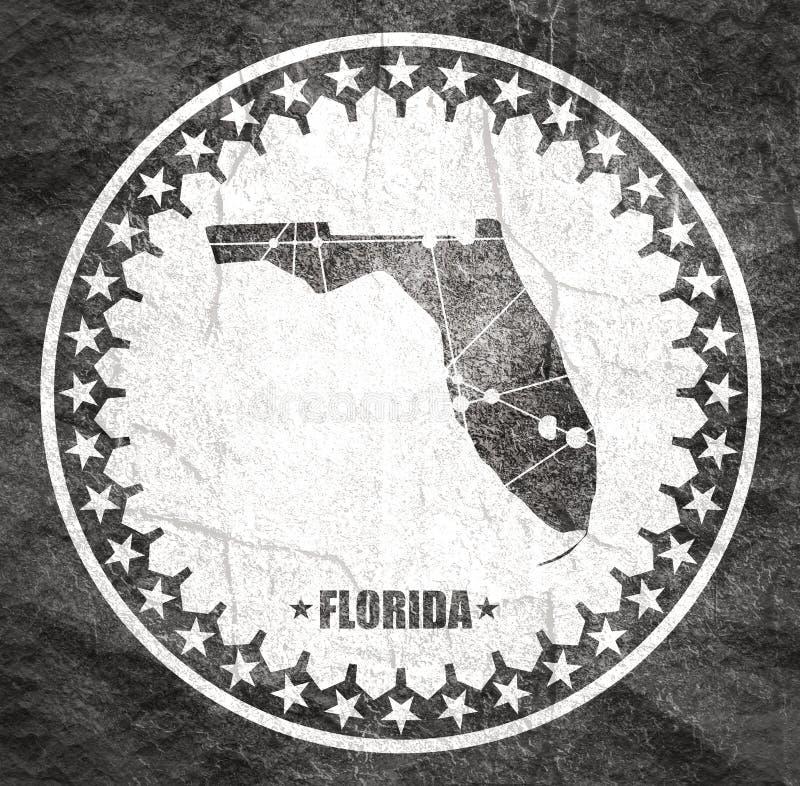Mapa do estado de Florida ilustração royalty free