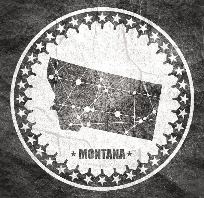 Mapa do estado de Montana ilustração royalty free