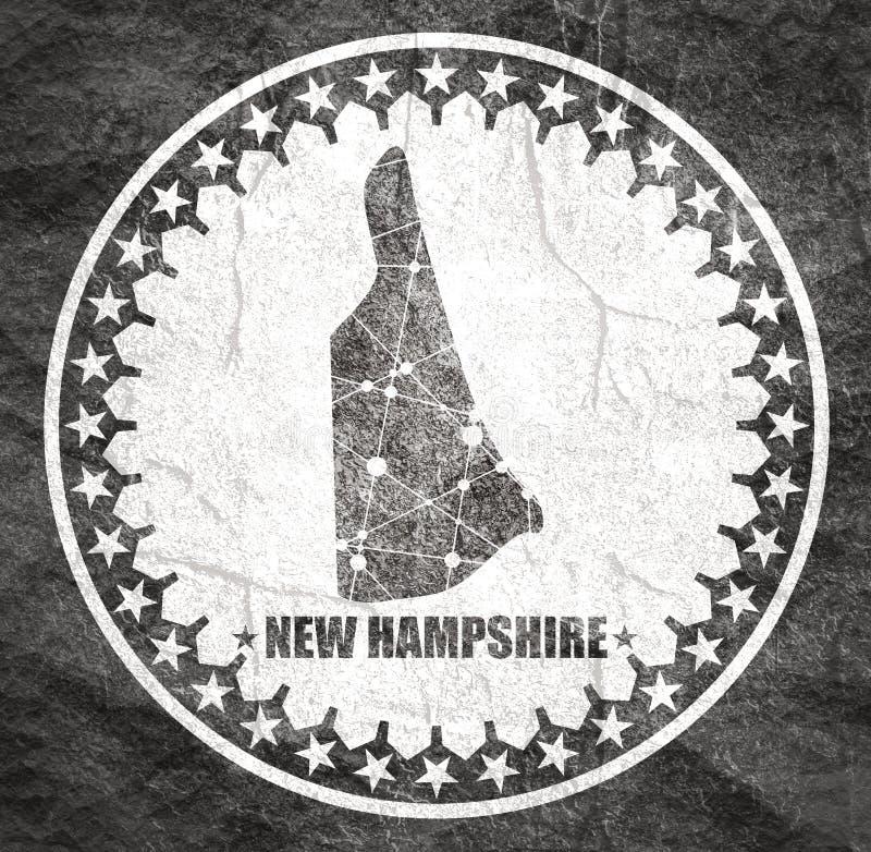 Mapa do estado de New Hampshire imagem de stock
