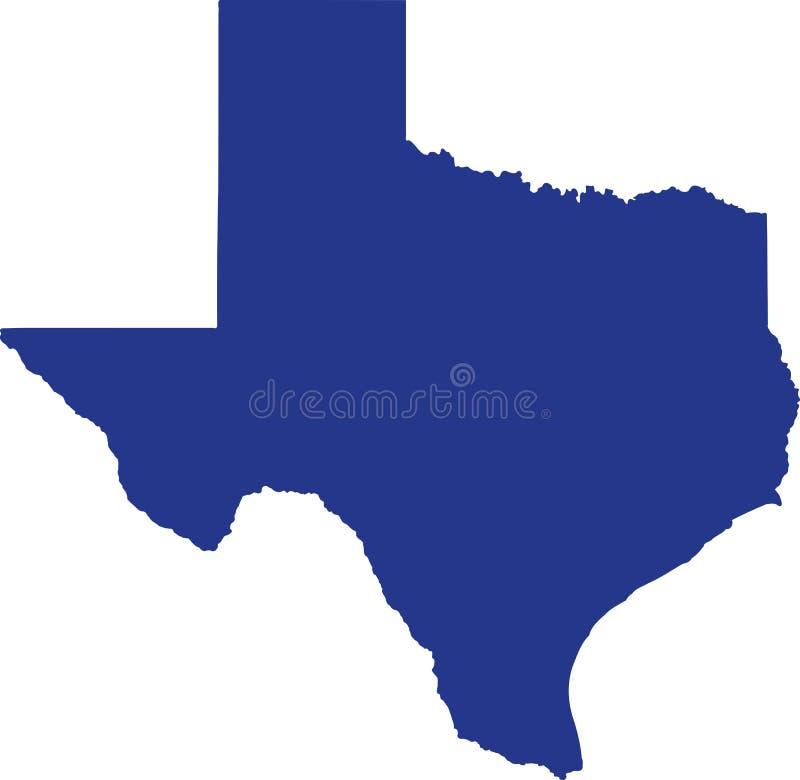 Mapa do estado de Texas ilustração do vetor