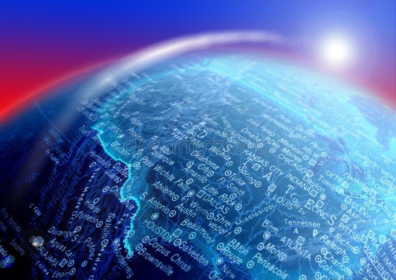 Mapa do globo imagens de stock royalty free