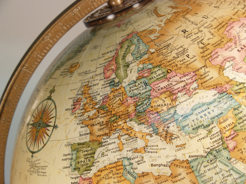 Mapa do globo imagens de stock