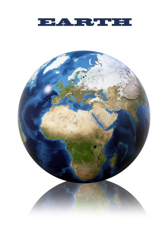 Mapa do globo da terra ilustração do vetor