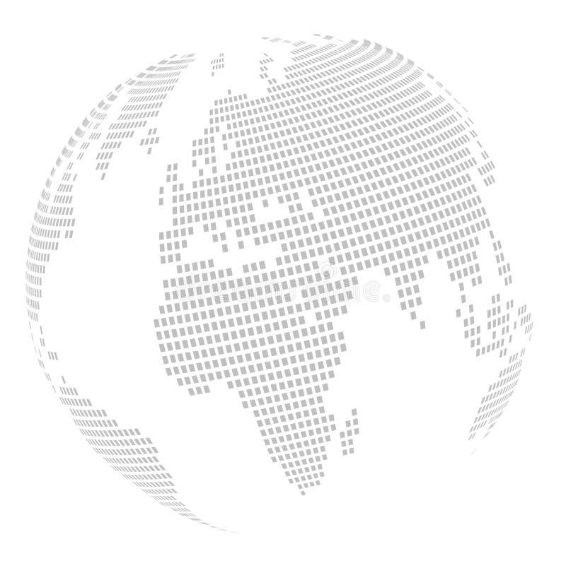 Mapa do globo do mundo: quadrado - enigma ilustração stock