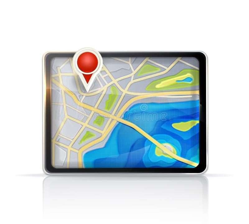 Mapa do GPS ilustração royalty free