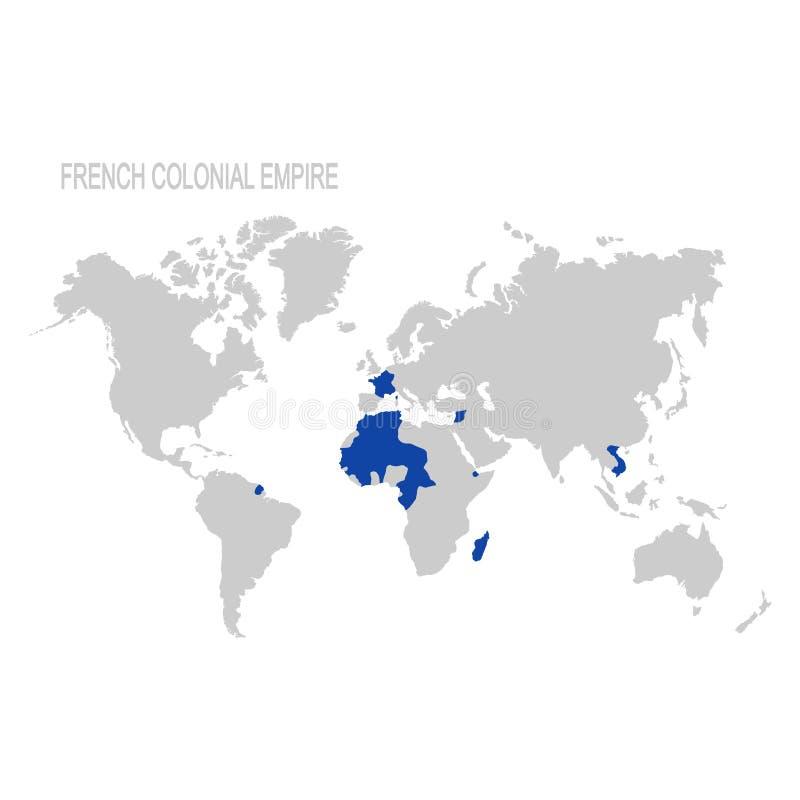 mapa do império colonial francês ilustração royalty free