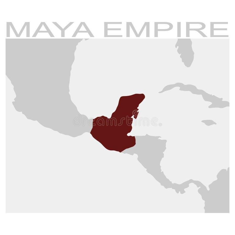 mapa do império do maya ilustração stock