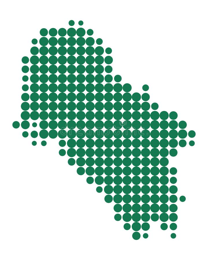 Mapa do Ios ilustração stock