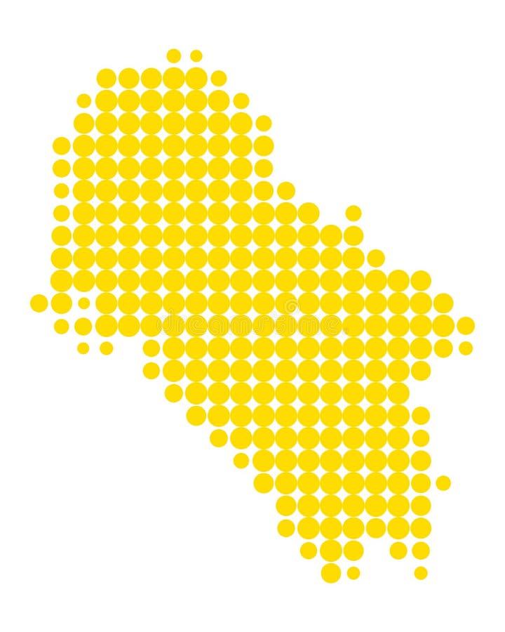 Mapa do Ios ilustração do vetor