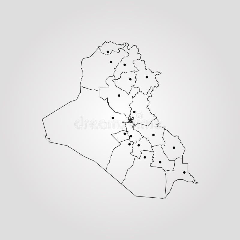mapa do iraku royalty ilustracja