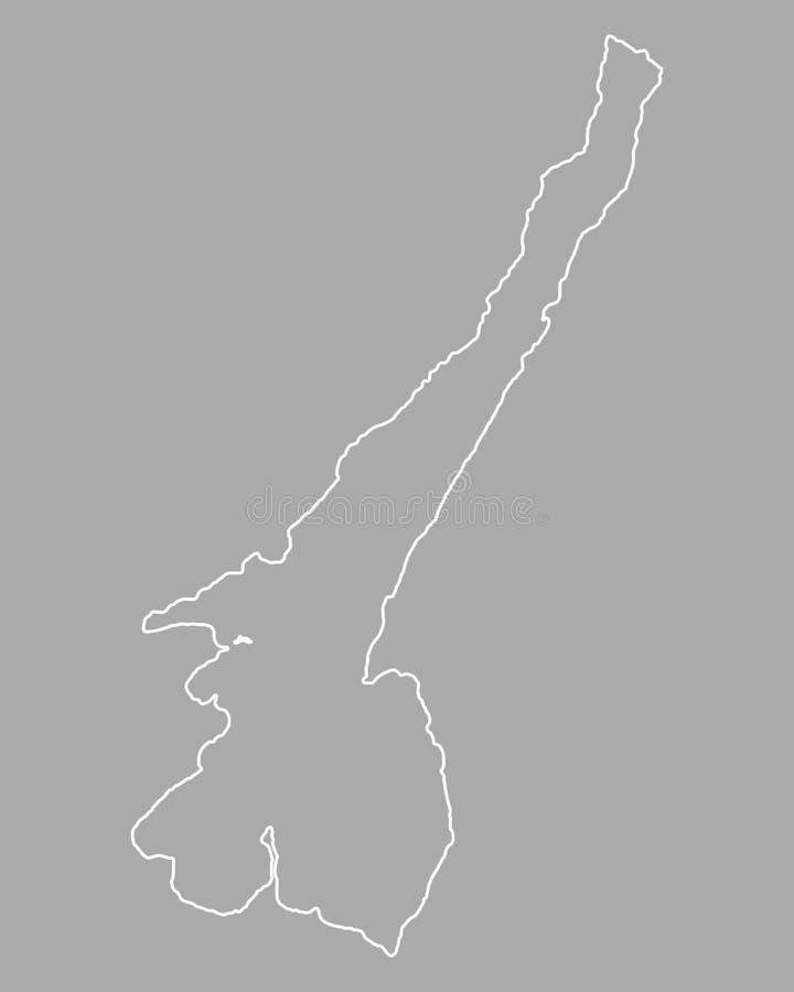Mapa do lago Garda ilustração stock