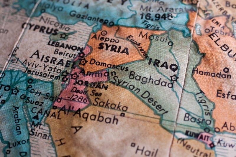 Mapa do Médio Oriente imagem de stock