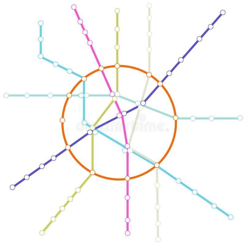 Mapa do metro ilustração stock