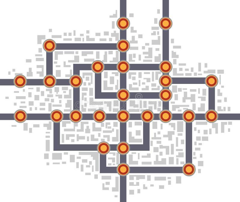 Mapa do metro ilustração royalty free