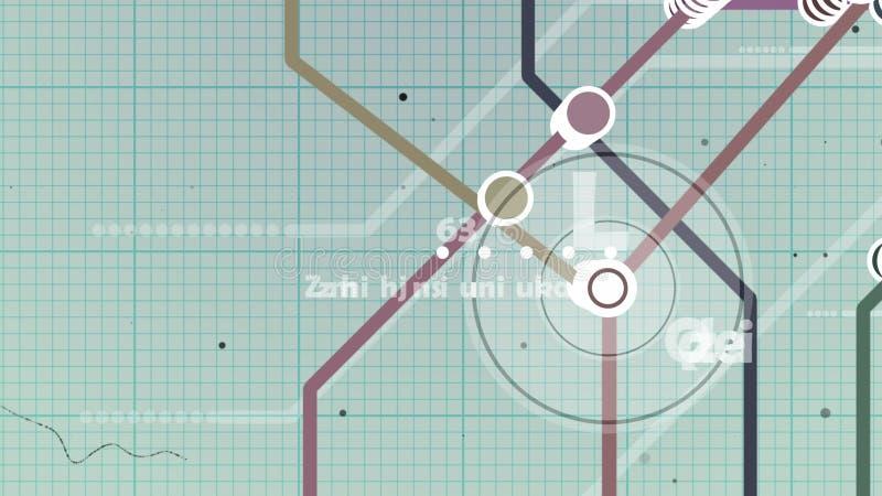 Mapa do metro do caderno ilustração do vetor