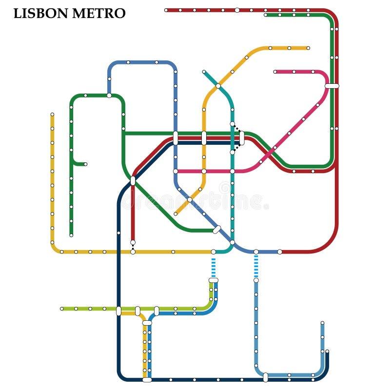 Mapa do metro, metro ilustração royalty free