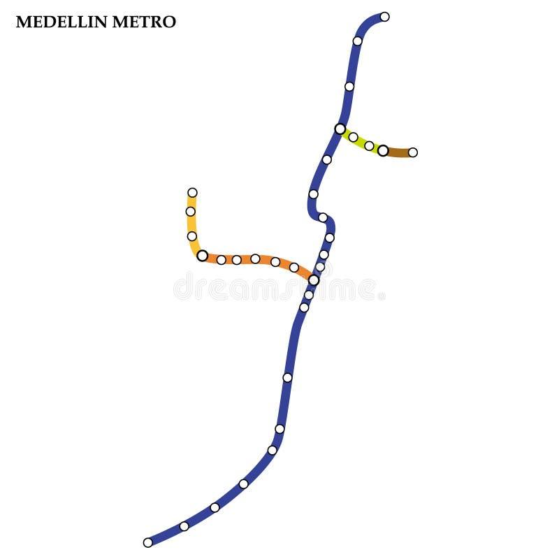 Mapa do metro, metro ilustração do vetor
