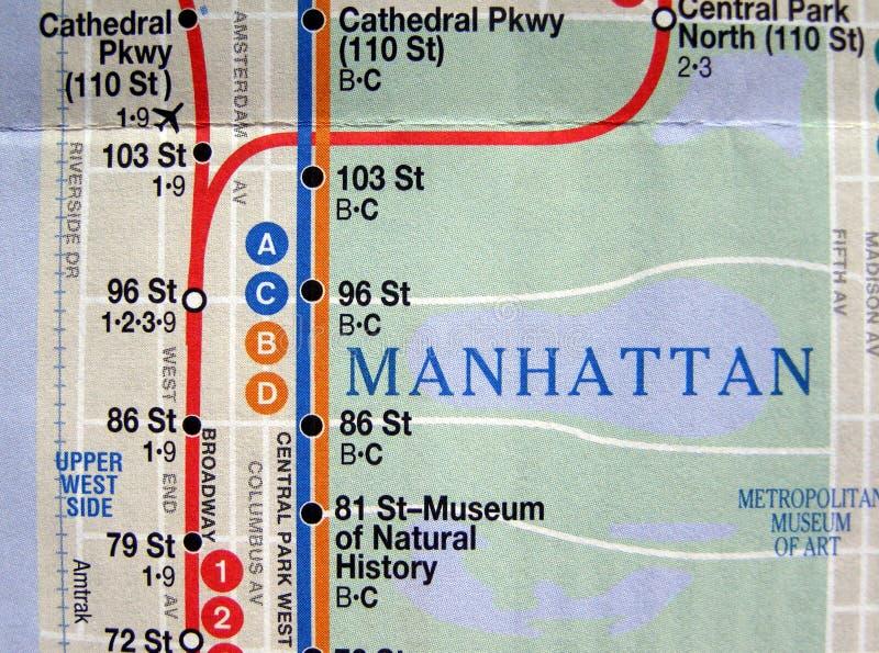 Mapa do metro de New York foto de stock royalty free